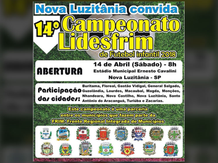 14º Campeonato Lidesfrim de Futebol Infantil realiza abertura em Nova Luzitânia