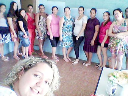 Gestantes participam de encontro e recebem kits em Nova Luzitânia