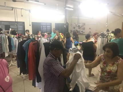 Fundo Social de Nova Luzitânia realiza bazar