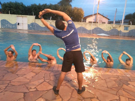 Hidroginástica para homens em Nova Luzitânia