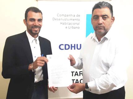Vereador cobra fiscalização da CDHU em Nhandeara