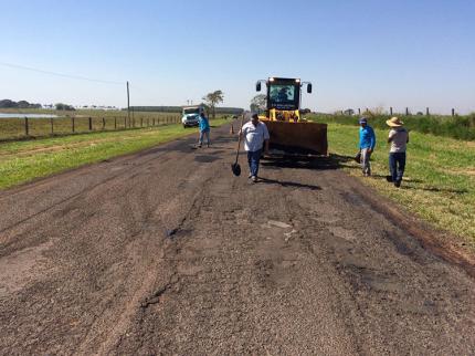 Serviço de tapa buracos é concluído em Nova Luzitânia