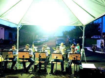 Banda da Polícia Militar de Araçatuba se apresentou em Nova Luzitânia