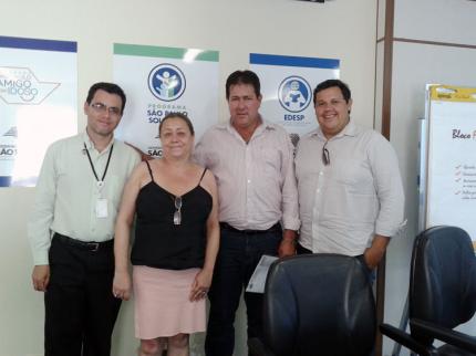 Edcarlos Pereira Campos em busca recursos para Nova Luzitânia