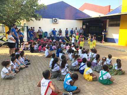 Folclore nas escolas municipais de Nova Luzitânia