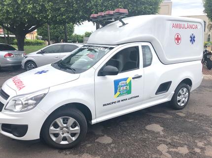 Nova Luzitânia recebe ambulância 0 km