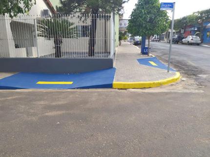 2º Quarteirão de calçadas com acessibilidade e mobilidade urbana em Nova Luzitânia