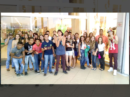 Ação Jovem de Nova Luzitânia vai ao cinema