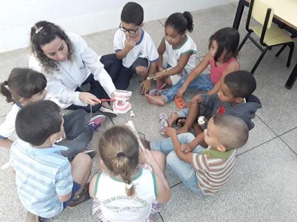Saúde realiza ações com crianças e gestantes
