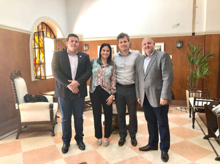 Prefeito esteve em São Paulo reiterando pedidos e em busca de mais benefícios para Nova Luzitânia