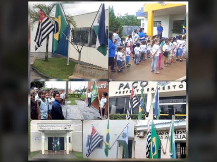 Ato cívico marca comemoração ao dia da Bandeira