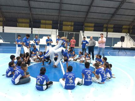 Capoeira é destaque do Projeto Nova Luzitânia em Movimento
