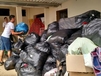 Nova Luzitânia ajuda em Campanha em prol aos desabrigados do Haiti